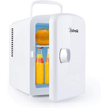 AstroAI 冷蔵庫 小型 冷温庫 ミニ冷蔵庫 4L 化粧品 小型でポータブル 家庭 車載両用 保温 保冷 2電源式 便利な携帯式 コンパクト 小型冷蔵庫 日本語説明書 3年保証付き (ホワイト) M040W 父の日ギフト