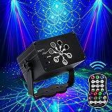 Discolicht Partylicht,Katomi Mini Party Deko licht,mit 2M USB-Stromkabel,240 Verschiedene Muster,Musikgesteuert Stroboskop mit Fernbedienung für Kindergeburtstag,Familientreffen,Weihnachtsfeier