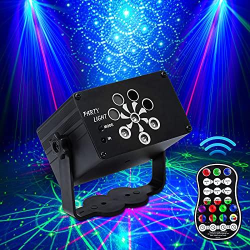 Discolicht Partylicht, Katomi Party Deko Discokugel, Mini-Partylicht mit 2M / 6,5ft USB-Stromkabel, Stroboskop mit Fernbedienung für Kindergeburtstag, Familientreffen, Weihnachtsfeier, Halloween