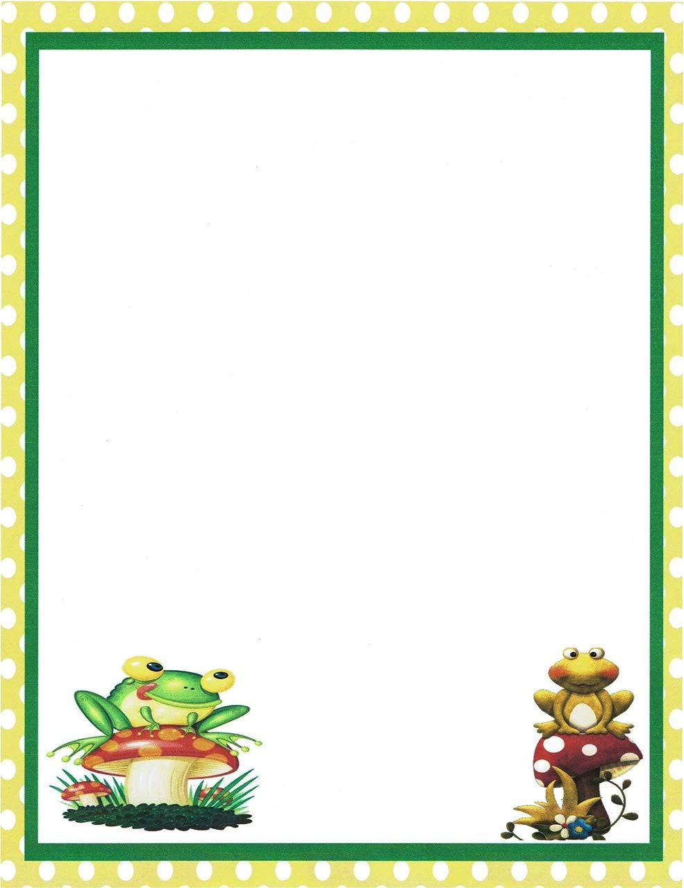 Amazon Com Frog Stationery Printer Paper 26 Sheets Health Household