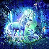 ZSWQ DIY 5D Diamante Pintura Kits, Diamond Painting Completo Unicornio Animal Bordado...