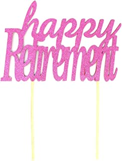 All About Details Happy Retirement Cake Topper, 1pc (Pink)