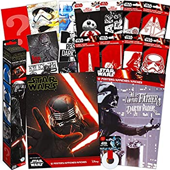 Star Wars Decorations Artwork Wall Art Ultimate Bundle ~ 35 Pcs Star Wars Posters Tape Decals for Walls Laptop Car  Star Wars Room Decor for Boys Girls Kids Adults
