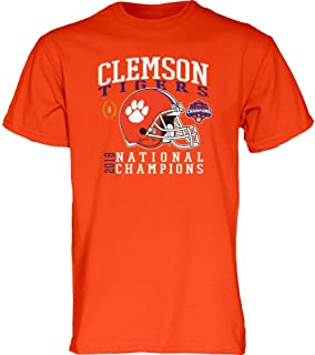 Clemson Tigers Champs Tshirt 2018-2019 Helmet Orange