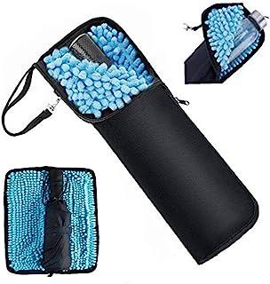 Achy JP 折り畳み傘カバー 両面超吸水 傘ケース 防水ファスナー 傘用カバー 梅雨対策 吸水力抜群 軽量 携帯便利 ブラック