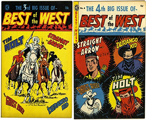 Best of the West. Issues 3 and 4. Straight arrow, Durango Kid, Ghost Rider and Bobby Benson's B-Bar-B Riders. Golden Age Digital Comics Wild West Western. (English Edition)