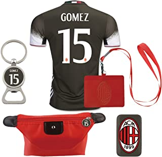 #15 Gomez (6 in 1 Combo) A.C. Milan 2nd Away Match Adult Soccer Jersey 2016-17