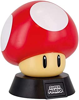 Paladone Super Mario Bros. Mushroom 3D Night Light - Decorative Lamp Collectible