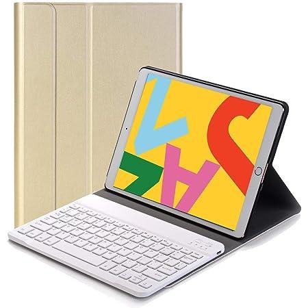 RLTech Teclado Funda para iPad 10.2 Pulgada 2020/2019, QWERTY Slim Teclado Wireless Keyboard Case con Magnético Desmontable Inalámbrico para iPad ...