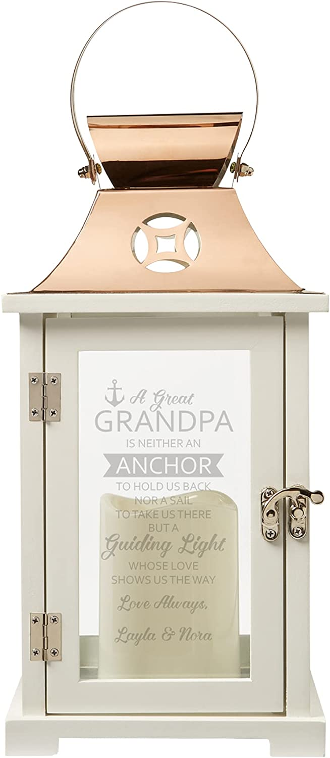 Let's It is very popular Make Memories Personalized Grandpa Candle - LED San Diego Mall Lantern