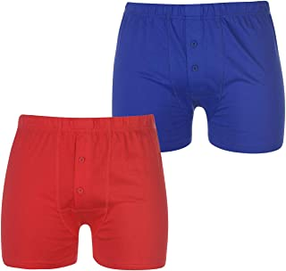 Lonsdale Mens 2 Pack Boxers Boxer Underwear Breathable Cotton Elasticated Waist