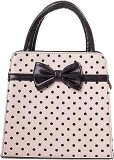 Carla Retro Bag 50s Rockabilly Polka Faux Leather Top Handle Handbag