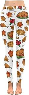 InterestPrint Custom Autumn Thanksgiving Turkey Stretchy Capri Leggings Skinny Pants for Yoga Running Pilates Gym(2XS-5XL)