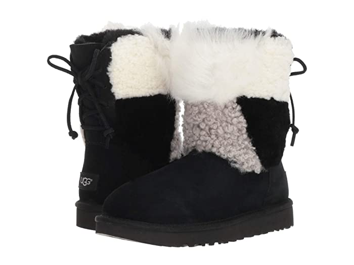 ea2cd4f98df UGG Classic Short Patchwork Fluff at 6pm