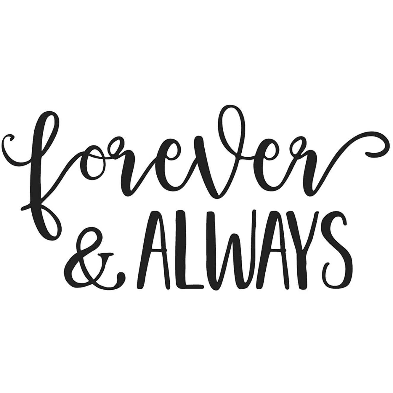 Rayher 29123000 Wood Mounted Rubber Stamp Featuring The Phrase Forever & Always, Stamps for Wedding, Crafting, Card Making and Scrapbooking, 12cm x 6cm