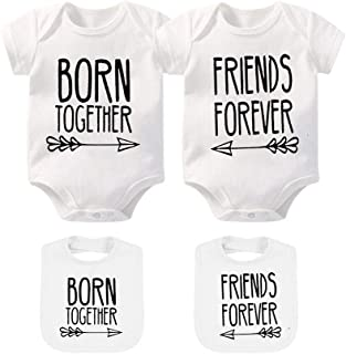 Baby Twins Clothes Best Friends Forever Baby Bodysuit Set Friends Inspired Matching Twins Outfits
