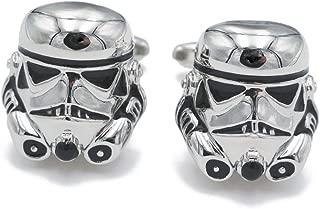 Classic Movie Design Cufflinks Vintage Jewelry Galactic Empire Storm Trooper Spaceship Cuff Button