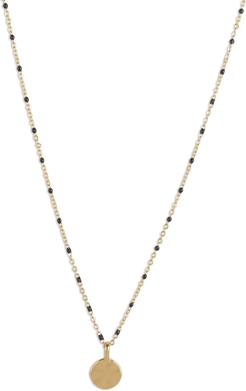Lucky Brand Wavy Coin Beaded Collar Necklace, Gold