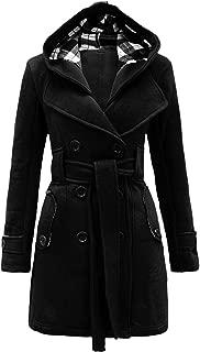 Womens Check Hood Plus Size Duffle Coat