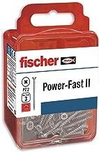 fischer Power-Fast II speciale houtschroeven, 4 x 50 mm, voor het schroeven van hout, verbinding van massief hout, bevesti...