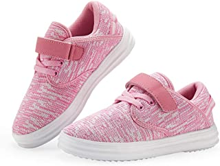 Kids Shoes Boys Girls Breathable Casual Sneakers Velcro Slip-On Sneakers Size 11 12 13 Lightweight Unisex Walking Shoes for Outdoor Running