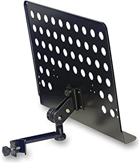 Stagg MUS-ARM 2 Large Music Stand with Attachable Holder Arm (Renewed)