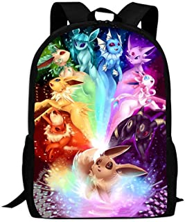 BEKAI E-evee Evolution Art | School Bags Multiple Pockets Backpack for Kids/Youth/Boys/Girls