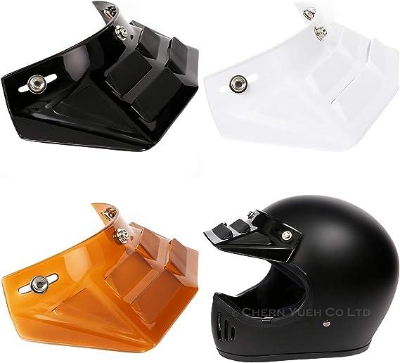 NOS Vintage 3 Snap White Visor for Open Face Motorcycle Helmet Harescramble