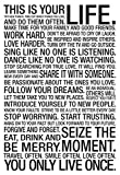 AllPosters This is Your Life Motivational Poster 13 x 19in