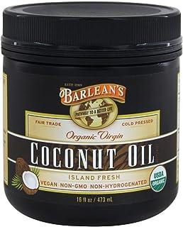 Barleans, Extra Virgin Coconut Oil Organic, 16 Ounce