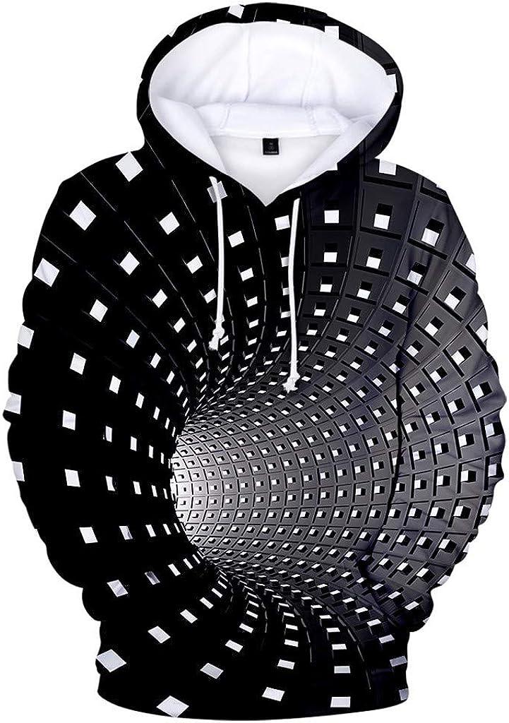 Mens Hoodies F_Gotal Autumn 3D Printed Creative Hooded Long Sleeve Sweatshirt Top Outwear Sports Hooded Sweatshirts