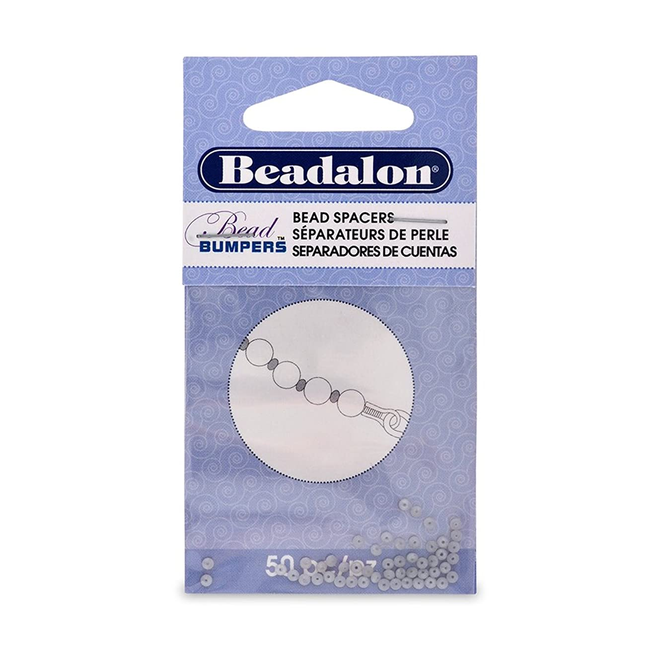 Artistic Wire Beadalon Bead Bumper 2mm Oval Sivler, 50-Piece