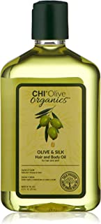 CHI Olive Organics - Olive & Silk Hair and Body Oil 8.5 Fl Oz, 8.5