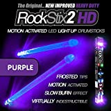 ROCKSTIX 2 HD DEEP PURPLE BRIGHT LED LIGHT UP DRUMSTICKS with fade effect Set your gig on fire! [並行輸入品]