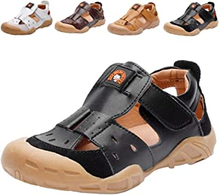 429ee54b8edf DADAWEN Boys Girls Summer Leather Closed-Toe Outdoor Sport Fisherman Sandal  (Toddler/Little