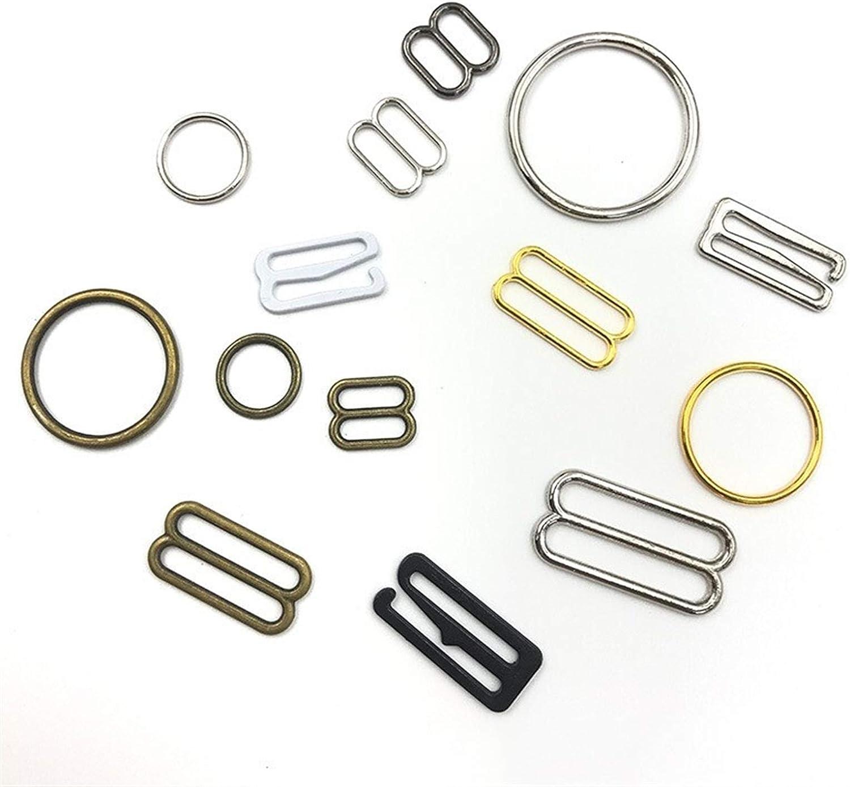 ZHAOFANGSTORE Metal Alloy Bra Sliders Clasp Buckles 9 Shape Ring