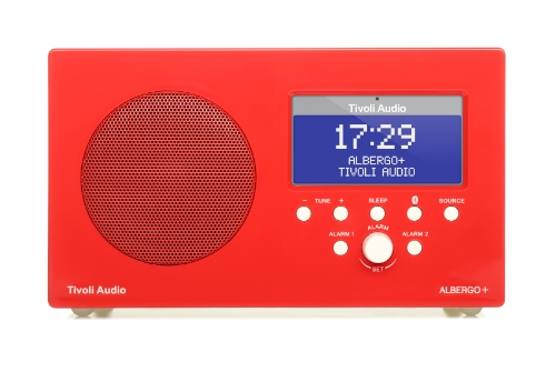 Tivoli Albergo+ Bluetooth DAB+/UKW Radiowecker in Rot