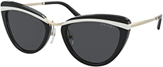 نظارة شمسية من برادا PR 25 XS YC45S0 أسود-أبيض/أسود