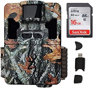 Browning Dark Ops Pro XD Dual Lens 24MP 1080p Trail Camera Bundled with 16GB SD Card and Memory Card Reader (3 Items)
