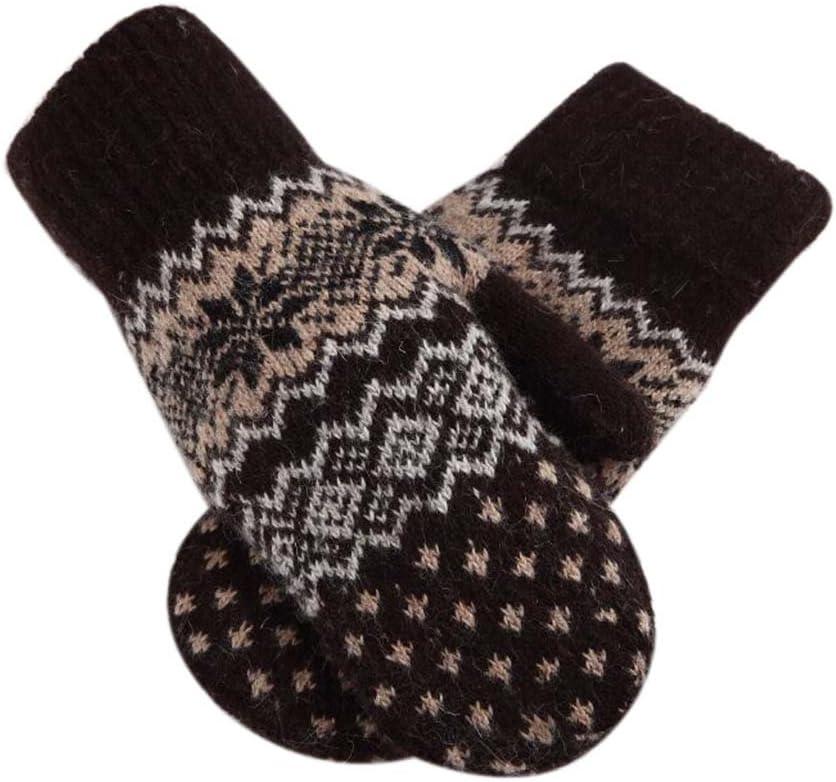 Panda Legends Lovely Mitten Velvet Warm Winter Gloves Woolen Gloves Couple Gloves [Brown]