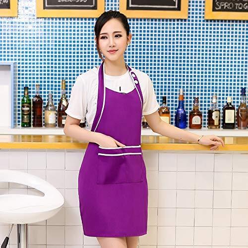 ZXL Keuken Thuis Dagelijks Schort Schoonheidssalon Nagel Koreaanse Mode Werkkleding (Kleur: Oranje)