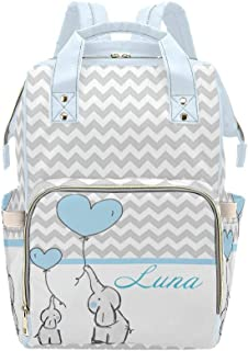 wrap bag culture bag bag washable with baby on the go culture bag Diaper bag with name stars blue nappy bag