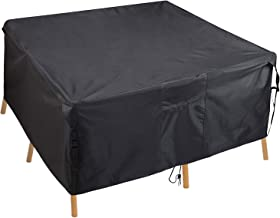 PATIOPTION Patio Table Cover, Rectangular Furniture Set Cover Outdoor Square Cover 600D Heavy Duty Tough Canvas Waterproof...