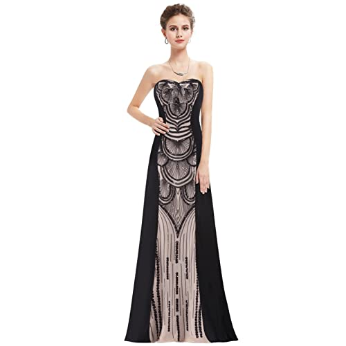 c55ea4720fb Ever-Pretty Womens Elegant Strapless Gatsby Inspired Evening Prom Dress