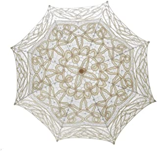 TopTie Lace Umbrella Parasol Wedding Bridal Photograph for Decoration Halloween Costume Accessories