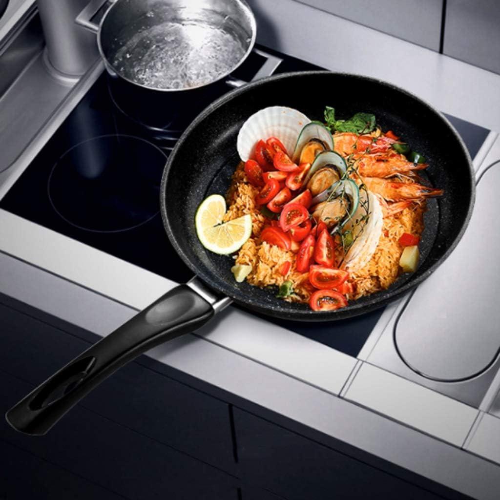 Chun Li Casserole, Poêle à gaz Poêle universelle avec couvercle Trois couleurs en option casserole (Color : B) A