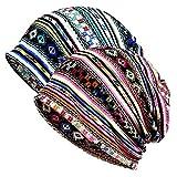 Chemo Beanie Hat – 2PCS Women Cotton Warm Hats Soft Slouchy Sleeping Caps