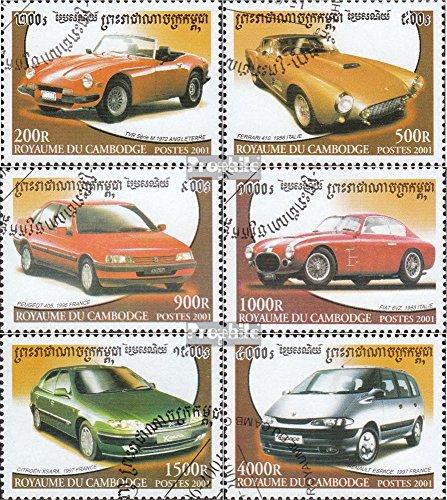 Prophila Collection Cambogia 2201-2206 (Completa Edizione) 2001 Automobile (Francobolli per i Collezionisti) Traffico Stradale