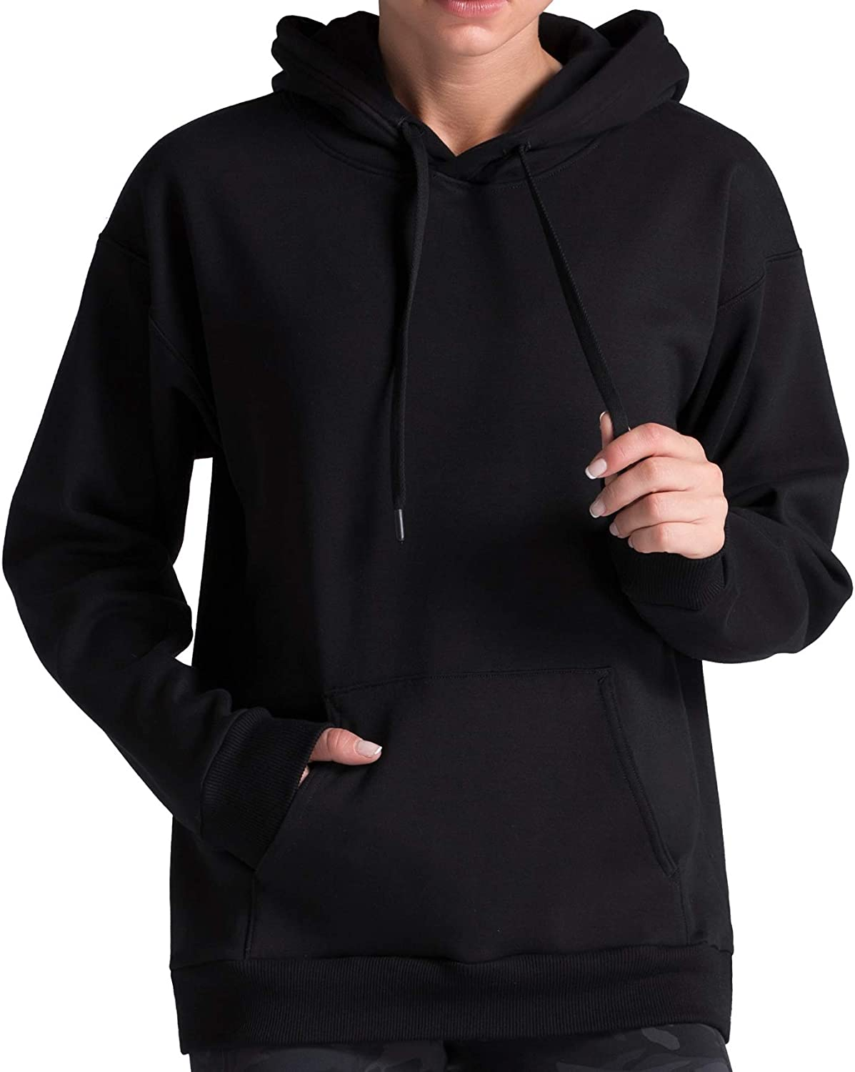 Dragon Fit Women Pullover Hoodie Loose fit Ultra Soft FleeceLined Active Sweatshirt with Pockets