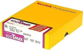 Kodak 137 1517 Professional 100 Tmax Black and White Negative Film (ISO 100) 4x5 (50 sheets) (Yellow)